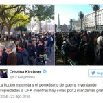 Dra @CFKArgentina Cuando monten una ESCENA como la de HOY, digale a los PUNTEROS que los MICROS👇 los dejen más lejos https://t.co/C6NqGbSVGr