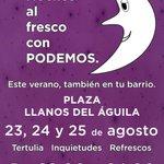 Esta semana nuestras #NochesAlFresco de #Albacete son en los Llanos del Águila. https://t.co/TGFcV89iCN https://t.co/52CeY3SqLf