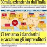 Le aziende fuggono dallitalia..a noi rimangono le risorse..gli immigrati!Grazie Renzi!#MovimentOnesti #NonRubo https://t.co/zM0KcaAtFv