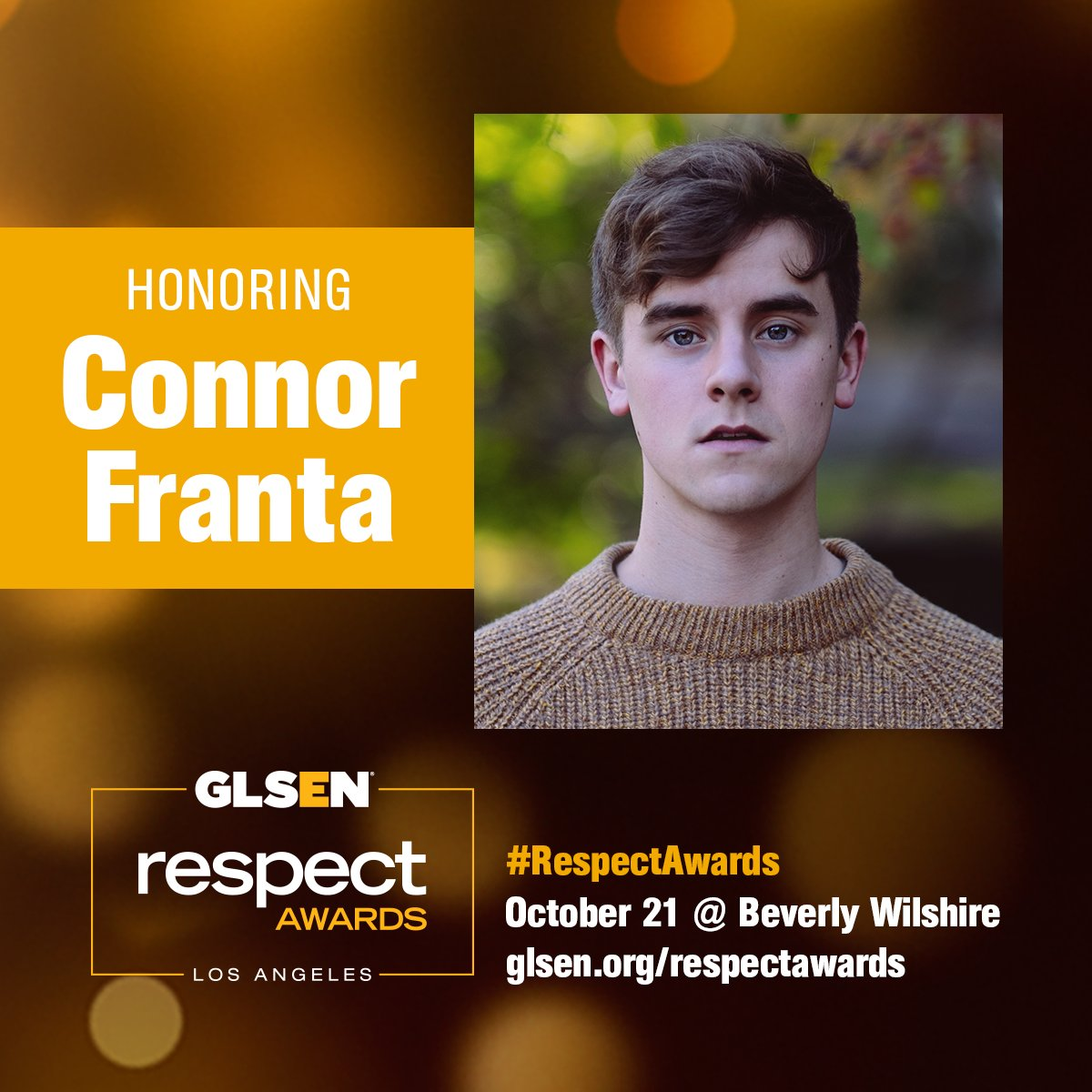 #GLSENproud to honor @ConnorFranta at the #RespectAwards! Read GLSEN's full statement here: https://t.co/NIfdyRChwQ https://t.co/PKXow3an6L