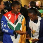 Semenya presents wife with gold medal upon return to South Africa