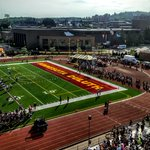 Welcome to #BulldogCountry incoming students for the annual @UMD_Football scrimmage https://t.co/UquIbd5hfq