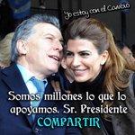 Somos millones los que lo apoyamos Sr. Presidente, @mauriciomacri, sino hoy argentina seria Venezuela!! 🙌 😉 https://t.co/7Svt95taZx