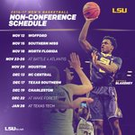 Here is the non-conference schedule for #LSU basketball for the upcoming 2016-17 season: https://t.co/tXuc5Dp1BJ https://t.co/HspOjBIrJj