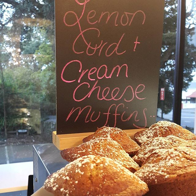 Wednesday 24 August, 7:20 a.m. - #muffinoftheday #lemoncurd #creamcheese #muffins  Muffin sour about these guys
