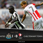 HALF TIME Newcastle United 1-0 Cheltenham Town #NUFC #EFLCup https://t.co/EgpsTO3nCs