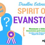 Know of someone that is all things Evanston? Nominate them! #Evanston #GoDoGood https://t.co/AwhXpZQ8ta https://t.co/nK6a6kzkwS