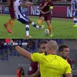 """De Rossi: """"IO? MA SE MANCO LHO TOCCATO!!!"""" Mica stai a gioca in Serie A, in Europa non perdonano. #romaporto#roma https://t.co/8H74xCPG4a"""