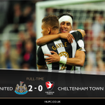 FULL TIME Newcastle United 2-0 Cheltenham Town #NUFC #EFLCup https://t.co/V02cii5zmL