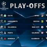 Tonights results... Five teams have booked their place in the #UCL group stage... https://t.co/jcurD9WfFo
