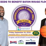 All proceeds from 2016 @Shaq & @LSUCoachJones Golf Classic will be donated to flood relief! https://t.co/x4aXQCSWyX https://t.co/gM21Gximft