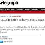 Nope. Can't for the life of me think why Branson would lie about a Labour leader pledged to nationalise UK railways: https://t.co/rDYV2ROHpH