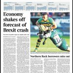 Tomorrows @TimesBusiness front page: Economy shakes off forecast of Brexit crash #tomorrowspaperstoday https://t.co/3hNWmb5tdp