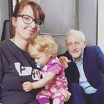 jumping on the #traingate bandwagon here w/ a pic of my Bestfriend and GodDaughter. On a train. With @jeremycorbyn 🤗 https://t.co/BGiECe83US