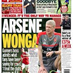 And heres the Mirror back page for Wednesday #AFC #LFC #MCFC https://t.co/JSrgsIAblj
