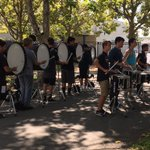 Napa High drum line - style, teamwork, precision. I love this sound of fall. @NVUSD @NapaHighBand https://t.co/6VDDVa3EY8