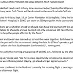 All Shaq & Johnnys annual Golf Classic (Sept. 16, 1 day before #LSU-Miss St.) proceeds going to #laflood relief. https://t.co/UtsWwP6nSV