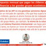 AFP: El impuesto mensual q pagan los chilenos para financiar a los grandes grupos económicos https://t.co/tU1DpTt1fN https://t.co/ZQ30OcqGmg