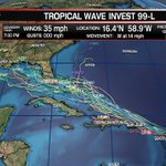 Tropical models shift more westward in line w/Euro Model thinking. Significant system possible. #lawx #gulf #tropics https://t.co/Lr3bl9KFXk