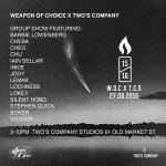 Weapon of choice x Twos company group show opening this Saturday 3-10pm @TwosCompany61 #Bristol https://t.co/hl24HKo6ES