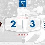 After 3: #Dodgers 3⃣, Giants 2⃣ 👍 https://t.co/JfwMgUrXVc