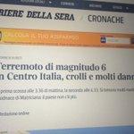 È arrivato dopo 2 ore anche il Corriere.it, che però confonde Amatrice con Matriciana. Quella è la pasta #terremoto https://t.co/y1wL9GcCNj