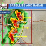 What an amazing line of storms. Skies are lighting up and pooring down on the city! Over 300 lightning strikes! -sd https://t.co/uqJLYbXEu3