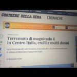 Amici del Corriere, dite al vostro stagista foodblogger che la cittadina è #Amatrice, non Matriciana. #terremoto https://t.co/mjUuAx0zOx