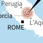 Strong quake in central Italy leaves at least 6 people dead, officials tell state media https://t.co/BZBqJgqz0H https://t.co/ulSGQq4V6A