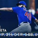 25 batters faced, 24 outs recorded this evening for @JArrieta34. #ArrietaAfterDark 👊 https://t.co/Ioi7HZOzSj