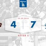 After 6: #Dodgers 7⃣, Giants 4⃣ 💪 https://t.co/2LmvdN3WzZ