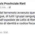Altra informazione fondamentale se siete in provincia di Rieti. #terremoto https://t.co/YcDjAiTcgM