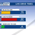 7:55a: A check on 40W drive times through #Garner & #Raleigh. #wral https://t.co/Jmui2PfyJ3