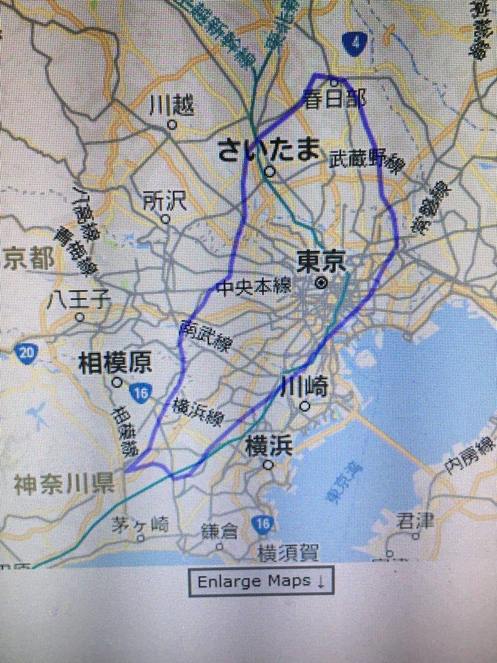 琵琶湖線+北陸本線+湖西線で山科〜近江塩津ですが、東京に照らし合わせるとこんな感じです。東京ってちっちゃいな https://t.co/Kb10QnhvpR