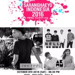 [CONFIRMED] SARANGHAEYO INDONESIA 2016: Taeyang, Akdong Musician and Nell. 08 October 2016 - 630PM at ICE BSD City. https://t.co/s4IW5l6Tfe