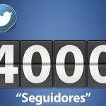 "Muchísimas Gracias llegamos a esta bonita cifra de ""4000"" SEGUIDORES https://t.co/HMxZDjtEYS"