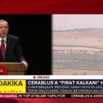 Cumhurbaşkanımız @RT_Erdogan: Saat 4 itibarıyla DAEŞ, PYD gibi terör örgütlerine karşı ordumuz operasyon başlattı. https://t.co/EeNrXxgiM3