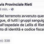 #Terremoto,Contact Center Protezione Civile:800840840.Sala Operativa della Protezione Civile del Lazio:803555. https://t.co/rLCQkkQYNv