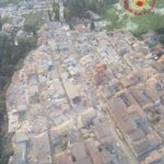Massive earthquake buries dozens of people in Italy. This aerial shot shows the devastation: https://t.co/kTLaMBLEiU https://t.co/ofUi542s8w