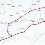 Closed military zone declared at the border with #Syria near Jarablus (map via @cnnturk) #Turkey https://t.co/DPMLO5u50z