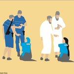 Un dessin du Soudanais Khalid Albaih sur la polémique française du #Burkini https://t.co/YSntEP3rAT