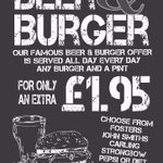 Beer & Burger offer NOW available @TWB_Barnsley add a drink for only £1.95 @WearInns #barnsleyisbrill #barnsleynow https://t.co/rhHJCgFZiJ