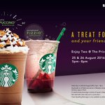 Enjoy a B1F1 when you purchase any Frappuccino/Fizzio beverage from 5pm- 8pm. An early celebration to the weekend! https://t.co/K7oSZ9oowa