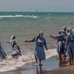 In France nuns frolic along the beach with no fear while brown, pious, religious women are under assault #BurkiniBan https://t.co/w2KgUsn1dA