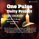 Join the Division of Student Affairs & the @UF community at the One Pulse Unity Project tomorrow in the @reitzunion https://t.co/6jyP46Fi8V
