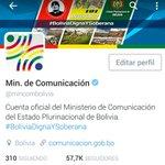 Al igual que @evoespueblo, la cuenta @mincombolivia ya se encuentra verificada por @twitter. Gracias por seguirnos! https://t.co/uXXkkZzvYD