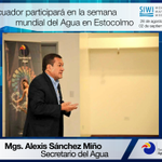 En el marco de la Semana Mundial del Agua #WWWeek @AlexisSanchezEC representará a #Ecuador https://t.co/a4j6ZnSj3B