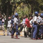 Police in Zimbabwe fire teargas& beat opposition youth protesting today. Image-daily news Zimbabwe https://t.co/uPIhBPOAlB