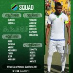 Tanzania @Tanfootball 20-man squad for the AFCON 2017 qualifiers tie against Nigeria @thenff . https://t.co/eJEOEoKyHX