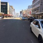 ZRP NOT using WATER in the water canons. They are using Liquid Tear Gas?!!!! #ThisFlag https://t.co/7PSryeq6B3